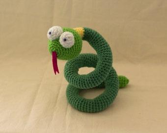 Snake Crochet Pattern, Reptile Amigurumi, Toy Snake
