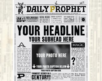 daily prophet newspaper template - Boat.jeremyeaton.co