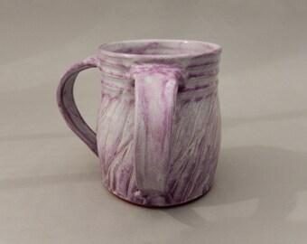 Pottery Judaica - Handmade Washing Cup - Negel Vasser - Lavender Cup