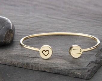 Pennsylvania Bracelet, Pennsylvania Charm, Pennsylvania Jewelry, State Bracelet, State Jewelry, State Charm, Custom State