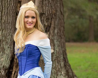 Princess Aurora from Disney's Sleeping Beauty Costume/Cosplay for Adult or Child