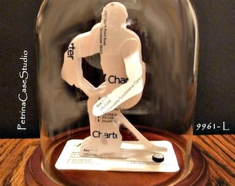 Hockey Player Business Card Sculpture Design 9961-L Any Theme, Hobby, Sport or Profession