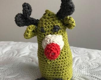 crochet reindeer plushie handmade