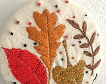 Autumn leafs embroidery