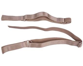 SALE Tan Bra Strap - 1/2 inch - 1 Pair (FP13BN2-2)