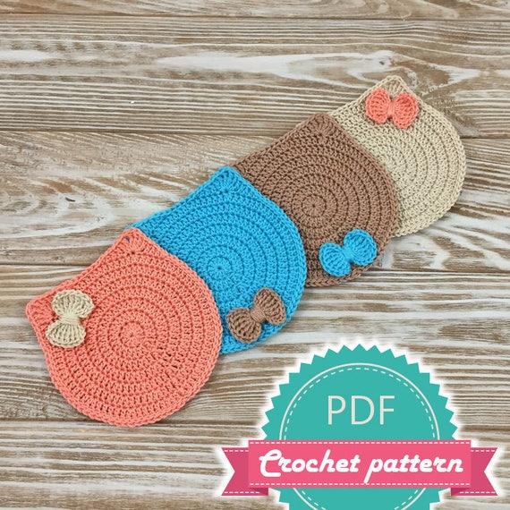 Pdf Crochet Cat Coaster Pattern Kitten Pattern Pattern Coaster