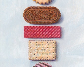 Biscuits. Limited edition giclée print.
