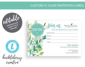 Young Living Class Invitation, Young Living Essential Oils, 6x4, Easy Edits & Download in Minutes!