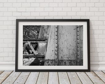 Wall art print Iron bridge Architectural photography Fine art photography Instant download