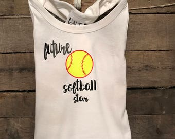 Future softball star tank top / t-shirt