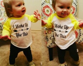 I Woke Up Like This - Girls Shirt - Baby Girls Shirt - For Girls - For Baby Girls - Custom Shirt