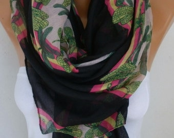 Black DRAGONFLY Print Cotton Scarf,Spring Summer Cowl Oversize Wrap Gift Ideas For Her Women Fashion Accessories Mother Day Gift Scarves