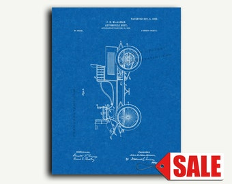 Patent Print - Automobile-body Patent Wall Art Poster