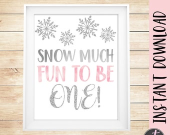 Winter Onederland Birthday Sign, Winter First Birthday Sign, Winter Onederland Party, Winter Onederland Sign, Pink Winter Onederland