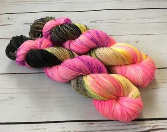 Sunset Highway Hand Dyed Superwash BFL/ Nylon Sock Yarn