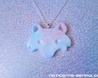 Pastel wolf/fox necklace