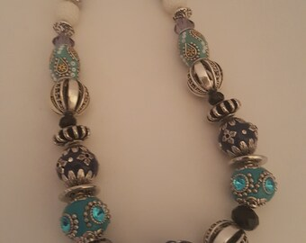 Blue-Silver Necklace
