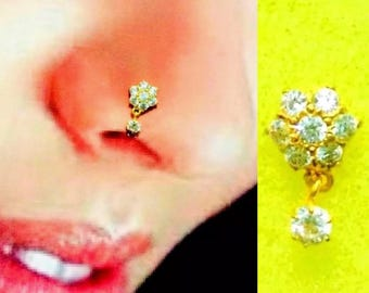 Stunning Nose Stud in Pure Yellow Gold
