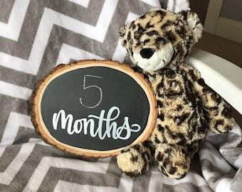 Baby Monthly Photo Prop - Rustic Wood Slice