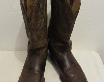Men's Vintage 90's,Brokin' in Brown WESTERN Style Cowboy Boots.8.5D