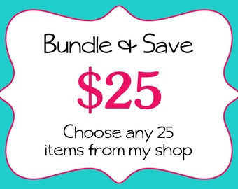 Commercial Use-Bundle and Save-Bulk Discount-Digital Papers-Clipart-Bundle-Sale-25-One Dollar Items-Digital Download