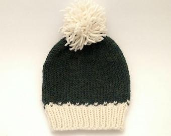 Knitted Pom-Pom Fair Isle Hat