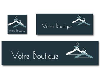 Banners couture blue hangers Navy Etsy Shop banner, banner design