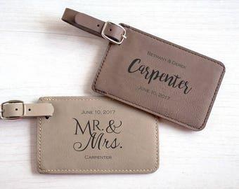 25 Custom Wedding Favor Luggage Tags: Personalized Wedding