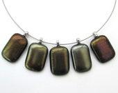 Iridescent glass pendant,...