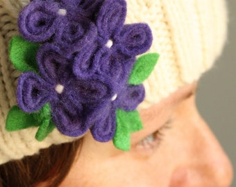 Purple Dream, Flower Brooch