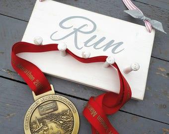 Medal hanger display, running medals, triathlon medal peg