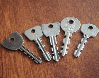 Five Vintage Keys.
