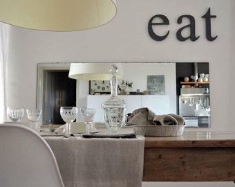kitchen decor wooden letters EAT Original font. Kitchen wall decor, kitchen signs,  eat letters wood, wood eat sign,