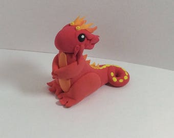 Dragon from polymer clay