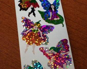 Hambly Sparkle Prismatic Fairy Faerie Stickers