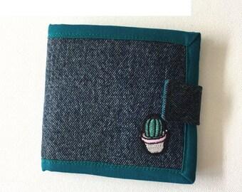 Geldbörse/Portmonee/Geldbeutel: Jeans und Kaktus