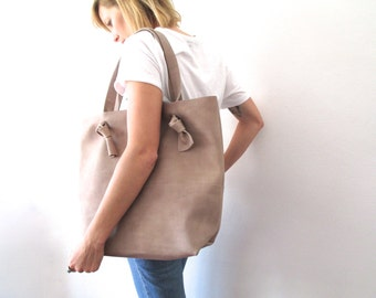 Big leather Shopping bag of Calf full flower