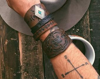 Boho Leather Bracelet, Boho Cuff, Leather Cuff, Boho Jewelry, Boho Cuff Bracelet, Rustic Bracelet, Bohemian Bracelet, Boho Leather Cuff