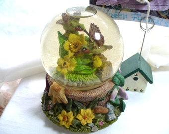 Snow Globe, Music Box, Hummingbird, Baby Shower Gift, Anniversary Gift, Retirement Gift, Bird Lover Gift, Gift For Gardener, Gift For Mom