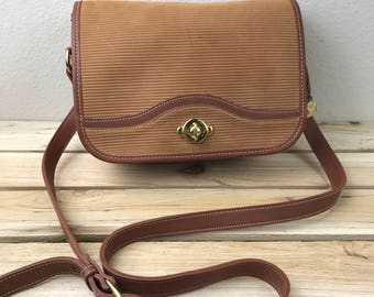 McGuire Nicholas Made in USA Brown Leather Crossbody Flap Bag Messenger Bag