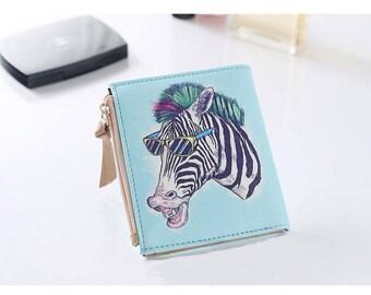 Zebra Wallet, Womans Wallet, Girls Wallet, Travel Wallet, Mini Wallet, Credit Card Holder, Credit Card Wallet, Coin Purse, Change Purse