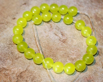 Olive Jade rounds 8mm