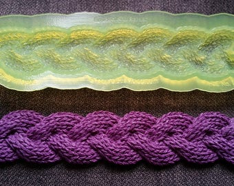 Marvelous Molds Braided Knit Border Silicone Mold