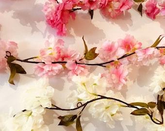 Künstliche Blumengirlande   6ft   Blüte   Hochzeitsdeko   Wahl der Farben