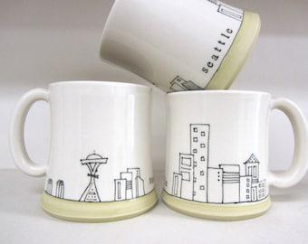 MADE TO ORDER ~ Seattle Cityscape Mug