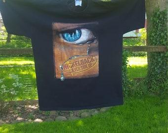 Vintage Nicklelback Silver Side Up Black Tour Tshirt