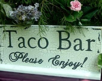 Wood Taco Bar Wedding Sign Wedding Signs Custom Wedding Signs  Rustic Wedding Signs Wedding Table Signs