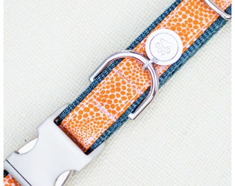 "Orange Crush Dog Collar (Please Leave Size ""inches"" in Comments Section)"