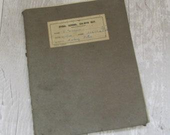 Vintage 1946 British Schoolgirl's Handwritten School Exercise Book - History Notes