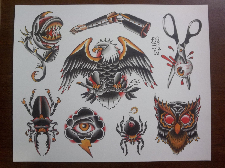 Tattoos Flash Designs